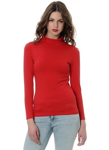 Grip Balıkçı Yaka Sweatshirt Kırmızı